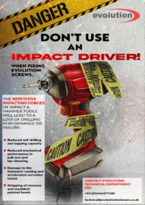 DON'T USE AN IMPACT DRIVER!