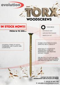 WOODSCREWS IN STOCK